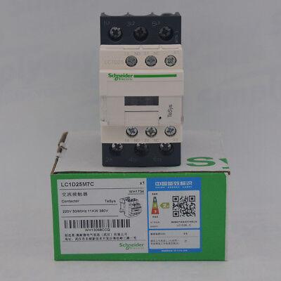 Lc1d25m7 Contactor 25 A Din Rail 600 Vac 3pst-no 3 Pole 20 Hp