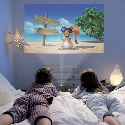 Mini White LED LCD Projector 4K WIFI 3D 1080P Home Theater Cinema HDMI Room  .