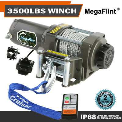 3500 lbs ELECTRIC TRAILER RECOVERY WINCH ATV/BOAT/TRUCK/CAR 12V Input 1.5 HP