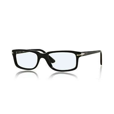 Top Quality Reading Glasses Persol PO 3130 95 Black 52 18 145 + Hoya Lens (Persol Reading Glasses)