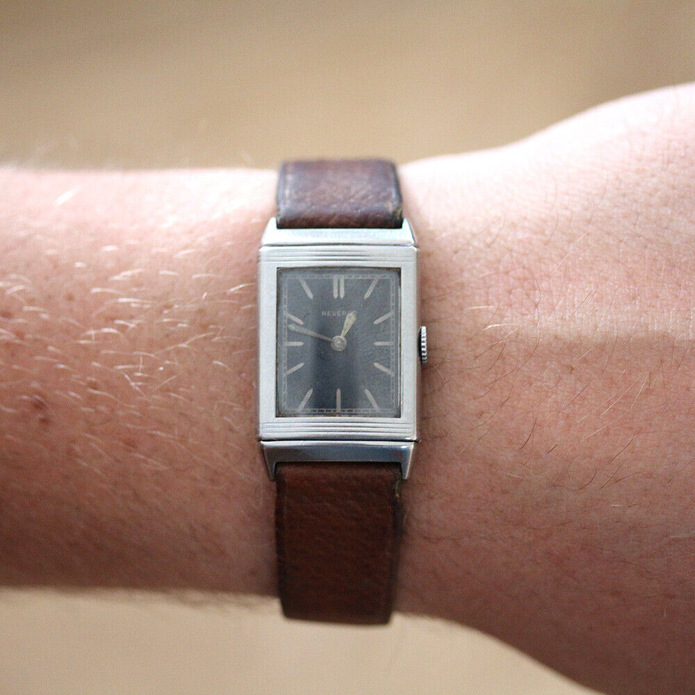 Very Rare Early Reverso Jaeger-LeCoultre Matching Numbers Wrist Watch - watch picture 1