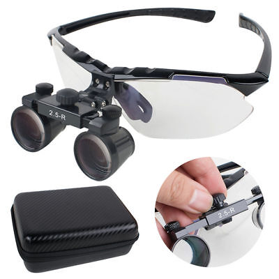 Upgraded Dental Loupes 2.5x R 360580mm Surgical Medical Binocular Case Usa