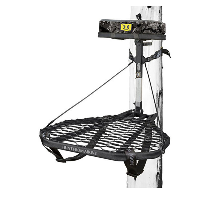 Hawk COMBAT Hang-On Hunting Treestand & Full-Body Safety Harness (Open Box)