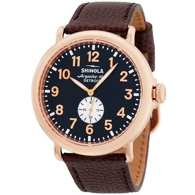 SHINOLA Runwell Midnight Blue Dial/PVD Rose Gold Men's watch