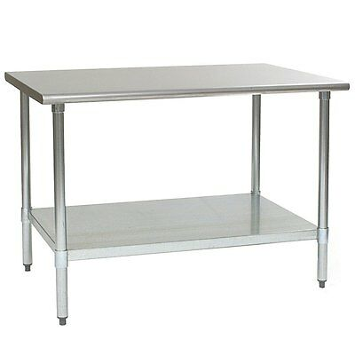 Eagle Group T3060seb Deluxe Work Table 60in X 30in Stainless Steel Work Top