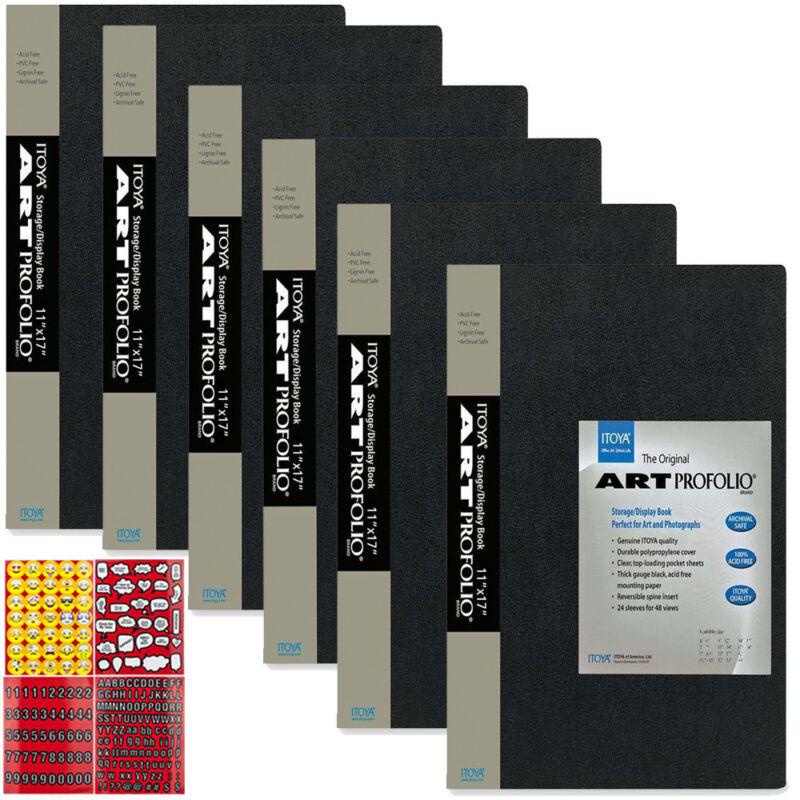 ITOYA Art Profolio Original 11 x 17 Storage Display Photo Album, Pack of 6