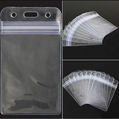 Vertical Clear Vinyl Id Card Holder Badge Holder Transparent Pvc Plastic