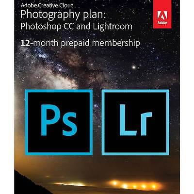 Adobe Creative Cloud Photography Plan  1 User   1 Year Subscription    Mac Wi