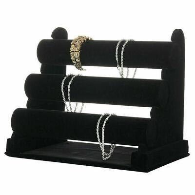 Velvet Bracelet Holder 3 Tiers Velvet Rack Bracelet Stand For Jewelry Necklace