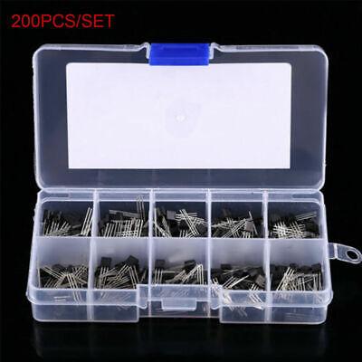 10 Values X20 200pcs Npn Pnp Power Transistor Assortment Kit Box Bc337 Bc327