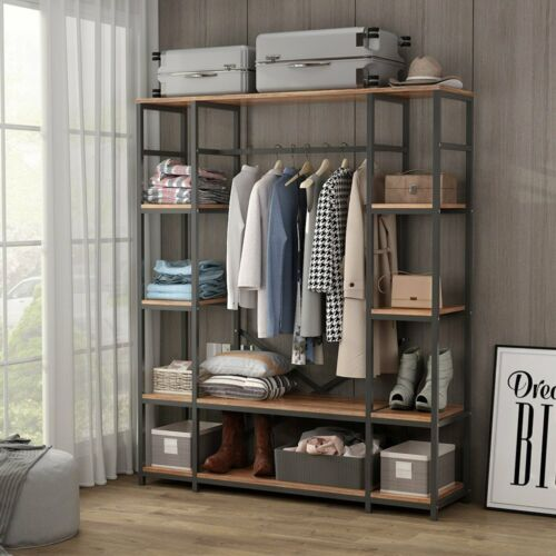 Large Closet Storage Wardrobe Clothes Garment Rack Heavy Dut
