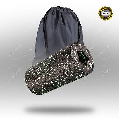 BALANCE ROLL Standard Massagerolle 31x15cm black Roll green Massage Rücken Set