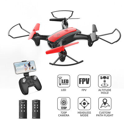 Holy Stone HS370 FPV Drone with 720P Camera for Kids RC Quadcopter  2 Battery US