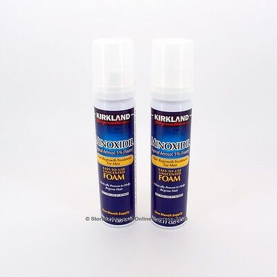 Kirkland 5% Minoxidil Foam Aerosol Hair Regrowth Treatment Men (2 month supply)