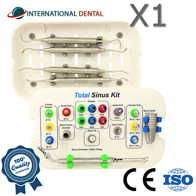 Dental Implant Total Sinus Lifting Crestal Lateral Approach Drill Surgical Kit