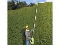 Long-reach telescopic electric hedge trimmer
