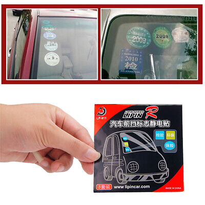 3pcs Car Windshield Glass Static Cling Stance Sticker Holder Decal for Car Label