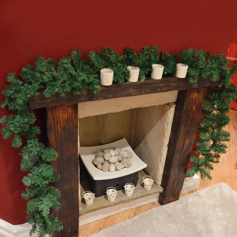 Details About 270cm 9ft Imperial Pine Christmas Garland Xmas Fireplace Stairs Mantel Decors Uk