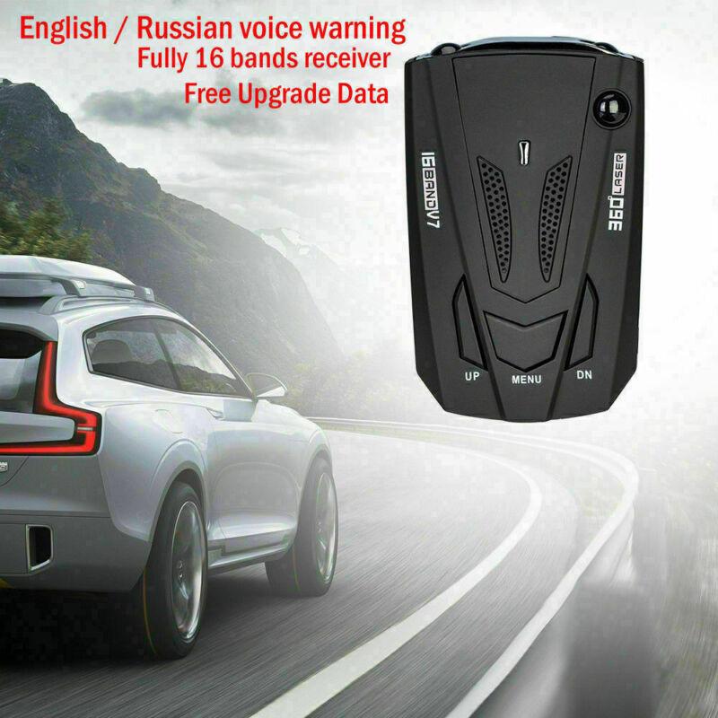 Gps Speed Police Safe Radar Detector Voice Alert Laser 360 Degree Car 16 V7