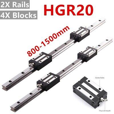 Hgh20 Linear Rail Guide Slide Rail 800-1500mm Hgh20ca Bearing Block Set For Cnc