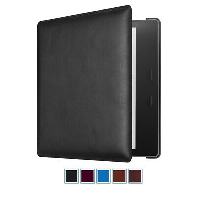 Genuine Leather Case Slim Cover for Kindle Oasis 10th Gen 2019 / 9th Gen 2017