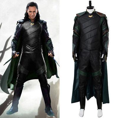 Thor Loki Halloween Costume (Avengers Thor 3 Ragnarok Loki Tom Sakaar Cosplay Costume Boots Halloween)
