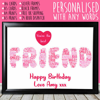 Personalised Best Friend Gifts Keepsake Christmas Friendship Presents For (Best Xmas Presents For Her)