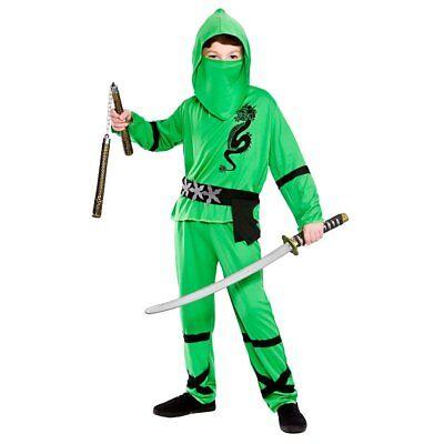 Green Power Ninja Kids Kostüm Halloween Japanischen (Ninja Kostüme Kid)