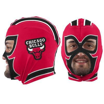 New Licensed NBA Chicago Bulls Fan Mask Adult Costume Hat Fun - Nba Costumes