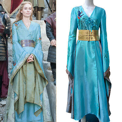 Cosplay Queen Cersei Lannister Costume Luxury Dress Game Of Thrones 7 Costumes