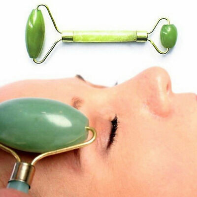 Jade Face Massager Roller Beauty Tool Facial Eye Neck Body Anti Ageing Ther @vt.