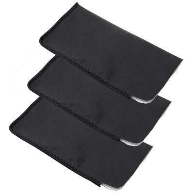 Large Black Sunglasses Glasses Soft Case Carry Storage Bag Pouch Faux -