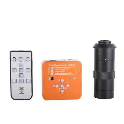 21mp Tv Hdmi Usb Industry Digital C-mount Microscope Camera Video 100x Lens