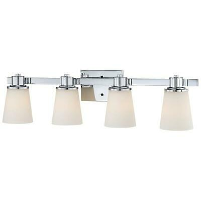 Home Decorators Collection 4-Light Chrome Bath Vanity Light w/Bell Shaped Glass