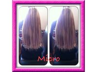 hair extensions micro & nano rings from £120 Spray Tan £10