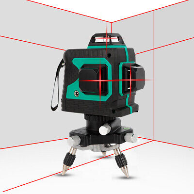 3d 12 Lines Red Laser Level Self Leveling Cross Measure Tool For Construction