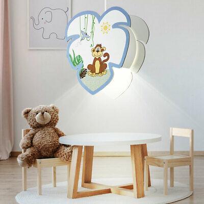 Gebraucht, Pendel Lampe Baby Spielzimmer Holz Affen Motiv Jungen Mädchen Tier Hänge Leuchte gebraucht kaufen  Acht