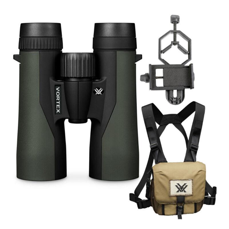 Vortex 8x42 Crossfire HD Binoculars w/Glasspak Haness & Smartphone Adapter Kit