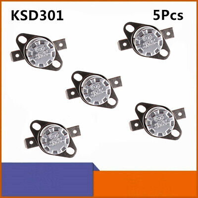 5pcs Ksd301 Temperature Switch Control Sensor Thermal Thermostat 0-160 No Nc