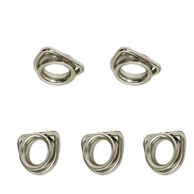 5 Pieces 5/16 Inch Marine Boat D-Ring Thimble With Round Shave Wire Rope