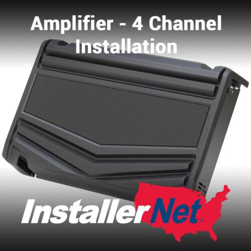 Car Amplifier Installation from InstallerNet - 4 channels - Lifetime Warranty