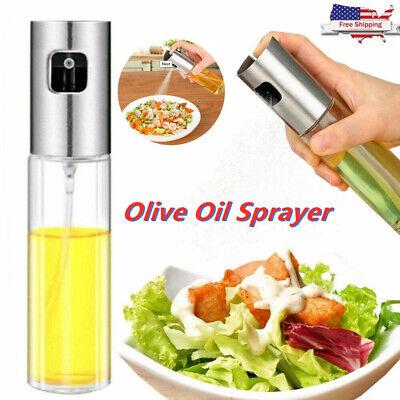 100ML Kitchen Olive Oil Vinegar Sprayer Cooking Mister Spray Pump Glass Bottle