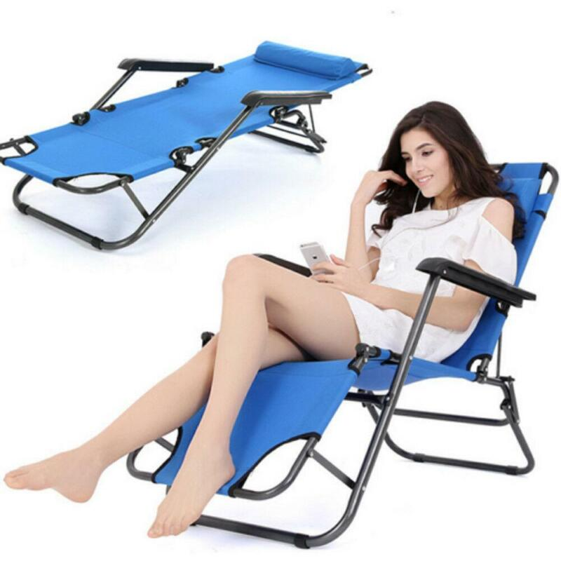 Folding Camping Bed Outdoor Portable Military Cot Sleeping Zero Gravity Chair US