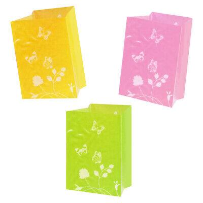 3 Tropical Luau Party Summer BBQ Lights Luminary Paper Light Bags Decorations - Halloween Paper Luminaries