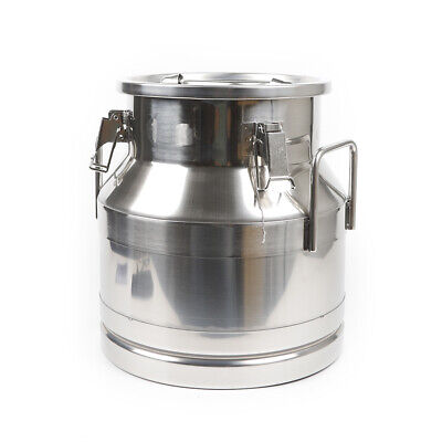 20l Seal Milk Can Wine Pail Bucket Tote Jug Storage Bucket Stainless Steel Usa