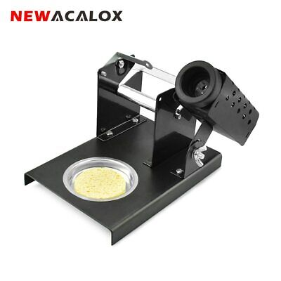 Newacalox Soldering Iron Station Stand Holder Metal Steel With Cleaning Sponge