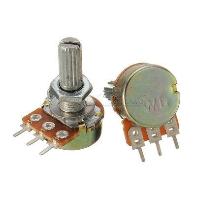2PCS B1K B5K B10K B20K B50K B100K B500K Rotary ohm Linear Taper Potentiometer B500k Potentiometer
