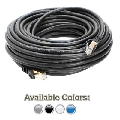 CAT7 SFTP Copper Gold Plated Shielded Ethernet RJ45 Network Patch Cable Cord -