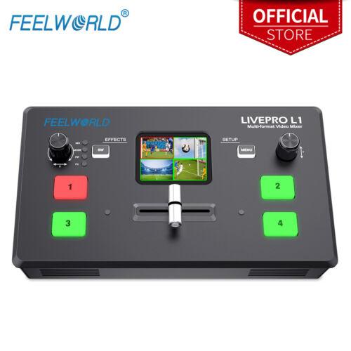 FEELWORLD LIVEPRO L1 V1 Live Stream Mixer 4 HDMI Input Video Production Switcher