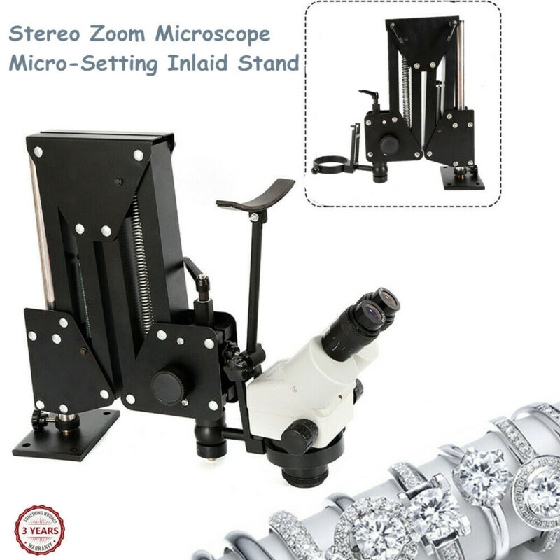Inlaid Mirror Multi-directional Micro-setting Stereo Microscope Jewelry 85mm NEW